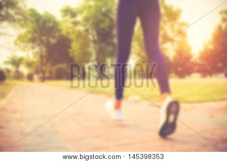 Blurred Backgrounds Of People Exercise At Parks Outdoor:blur Of People Running,walking,jogging At Pa