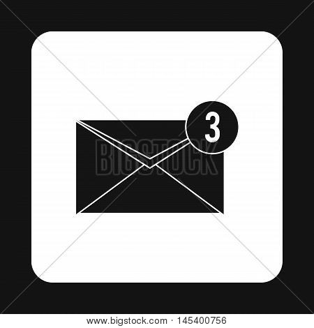 Three new e-mail icon in simple style isolated on white background. Message symbol
