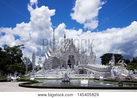 Wat Rong Khun is the white tempel in Chiang Rai Province Thailand