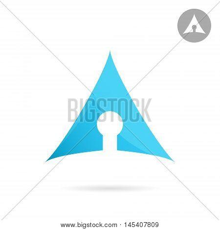 Keyhole icon on white background 2d vector logo illustration eps 10