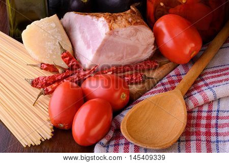Real Spaghetti All'amatriciana Ingredients