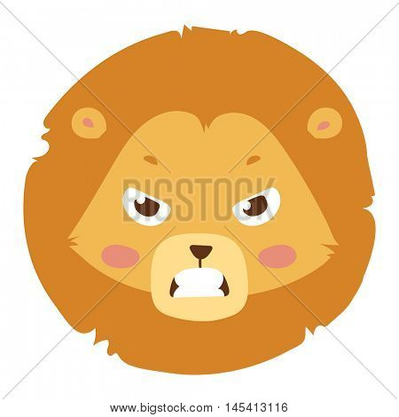 Animal emotion avatar vector icon