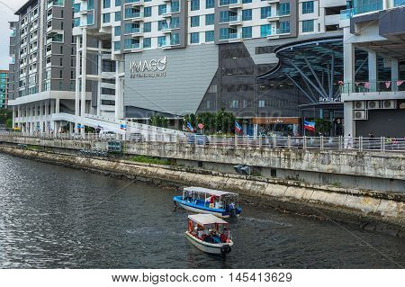 Kota Kinabalu,Sabah-Aug 30,2016:View of Imago the Mall at KK Times Square is one of Kota Kinabalu largest shopping centres at Kota Kinabalu,Sabah on 30th Aug 2016.It opened on 28 March 2015.