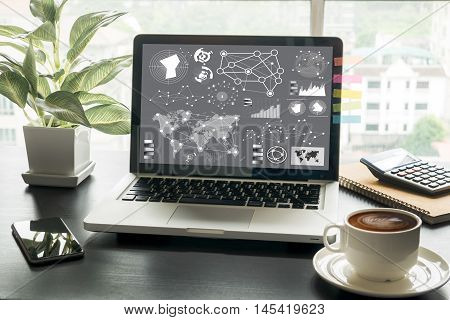 Digital Layer Business Strategy And Social Media Diagram