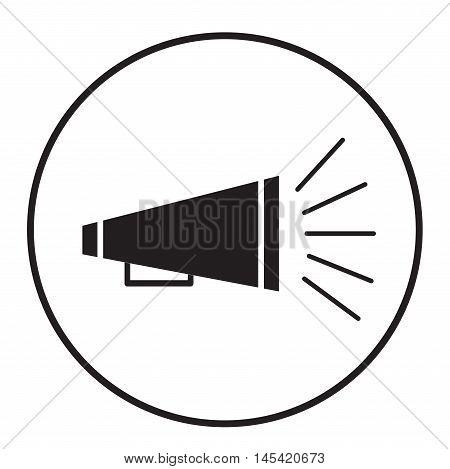 bullhorn symbol, bullhorn icon, bullhorn on white background