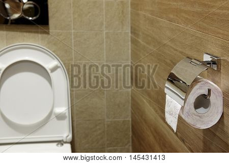 Interior of a publik toilet