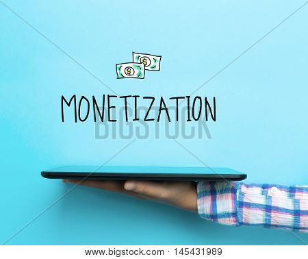 Monetization Concept With A Tablet