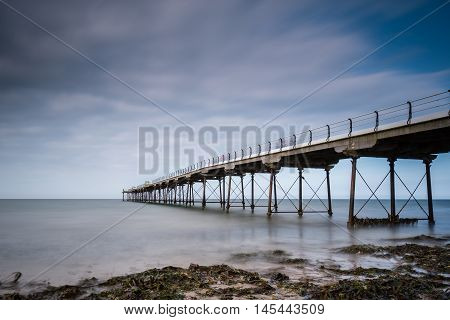 Long Exposure at Saltburn Pier, at Saltburn by the Sea which is a Victorian seaside resort with what is the most northerly surviving British Pier