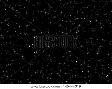 Radiant and simple star on a dark background.