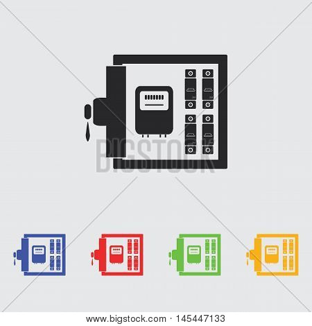 Electric distribution box  vector icon for web and mobile