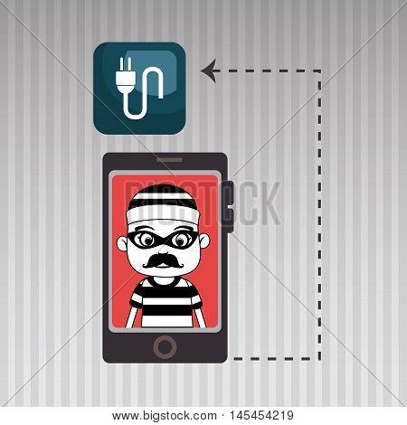 smartphone security information design vector illustration eps 10