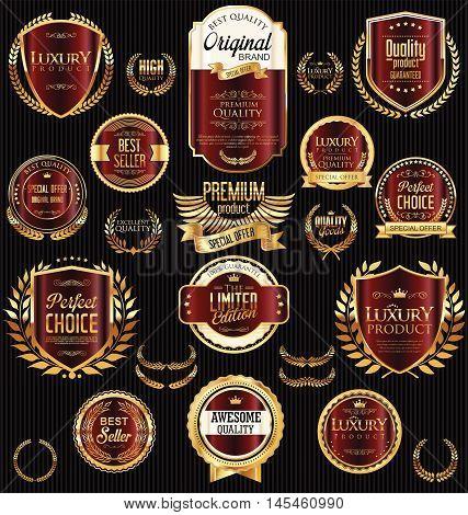Golden Sale Labels Retro Vintage Design Collection 9.eps