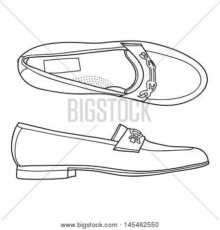 Men's Loafer Shoe. Vector doodle illustration for you design