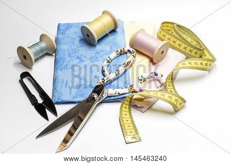 Fabrics, Threads and some other sewing tools