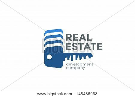 Key Cityscape Real Estate Logo design Realty Construction icon