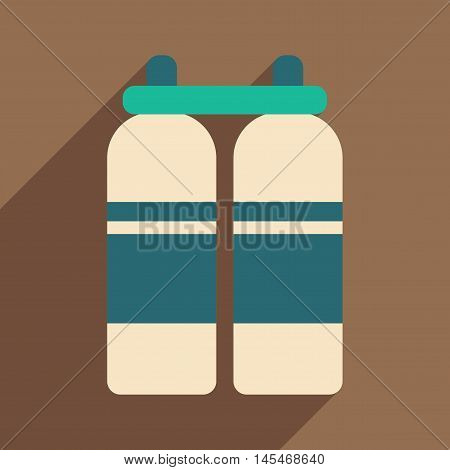 Flat with shadow icon and mobile application air cylinders