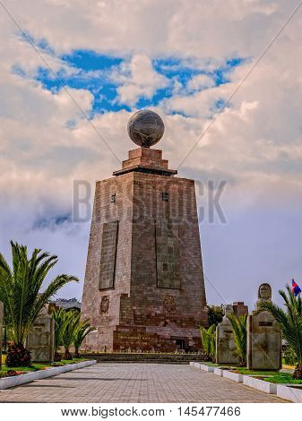 Middle Of The World Mitad Del Mundo The 30M Tall Monument Near Quito Ecuador