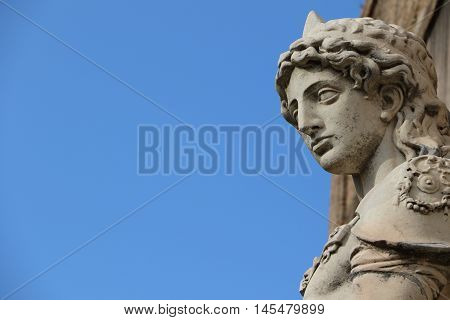 Statue of the archangel Michael in the Castel Sant'Angelo in Rome