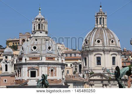 The Church of Santa Maria di Loreto in Rome