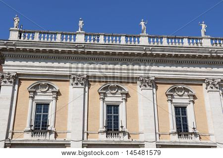 Detail of the Capitoline museums in Rome