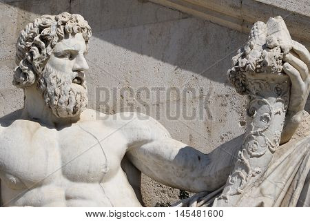 Statue of the Capitoline Hill in Rome