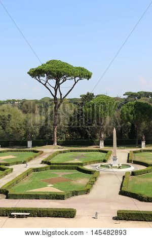 Garden of the villa Medici in Rome