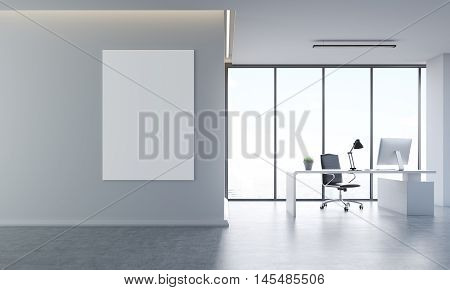 Gray Office Interior