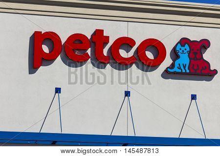 Indianapolis - Circa September 2016: Petco Animal Supplies Retail Strip Mall Location I