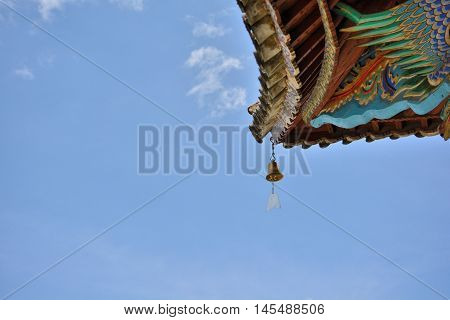 Bronze Bell At Ancient Southwest Traditional Building Of China