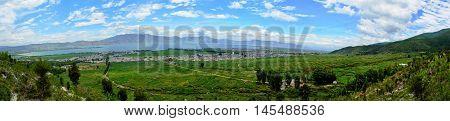 Panorama Dali Basin at Yunnan Province southwest China.