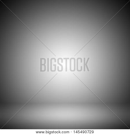 gray gradient background / empty room studio background / Light gray gradient abstract background. Empty room for display product