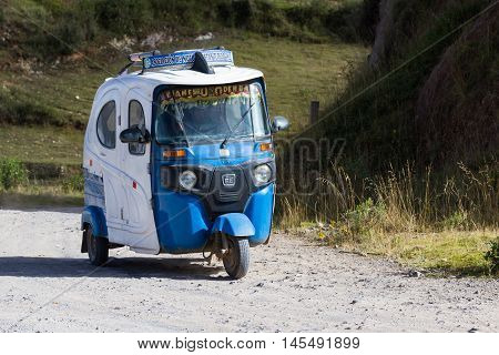Moto Taxi On A Dirt Road