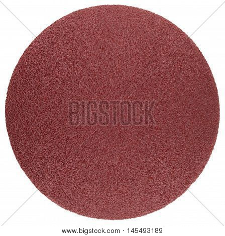 Abrasive disc for grinding and cleaning of metal wood paint and other materials. Оbject is isolated on white background