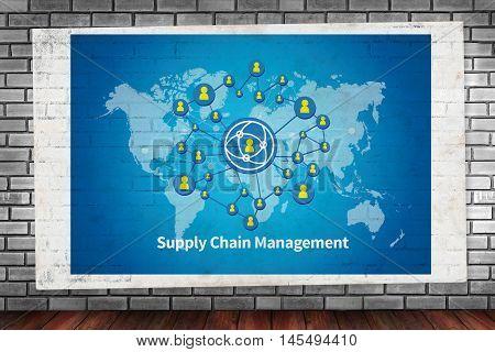 Scm Supply Chain Management Concept