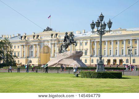 SAINT PETERSBURG, RUSSIA - JULY 28, 2016: Sunny july day on the Senate square. Historical landmark of the city Saint Petersburg