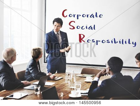 Corporate Social Responsibility Meeting Concept