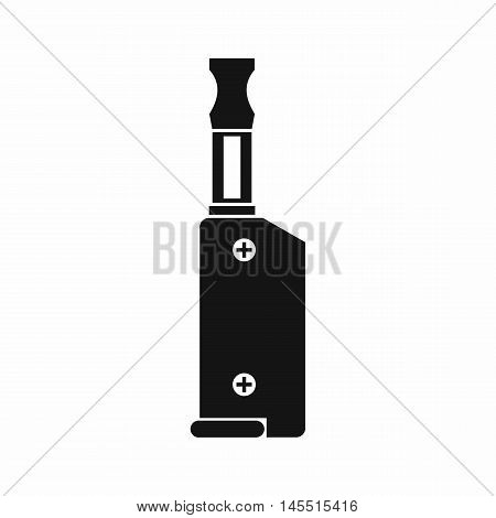 Electronic cigarette with mouthpiece icon in simple style isolated on white background. Smoking symbol