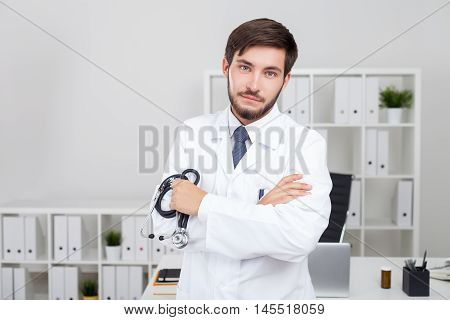 Disappointed Bearded Doctor