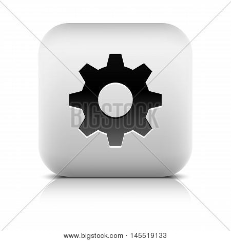 Media Player Icon With Cog Settings Sign