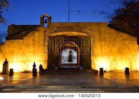 SANTO DOMINGO, DOMINICAN REPUBLIC - January 24, 2016: Puerta del Conde,