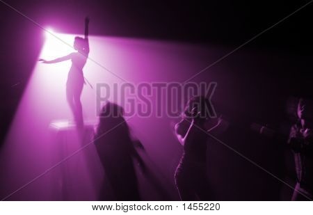 Disco Party In Violet Color