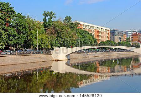 Zverev bridge in Moscow, Russia in the summer