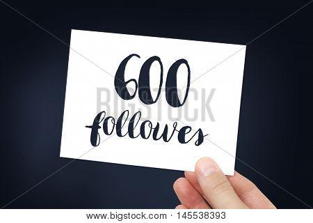 600 followers concept