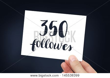 350 followers concept