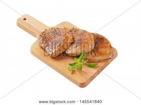 roasted herb rubbed boneless pork chops