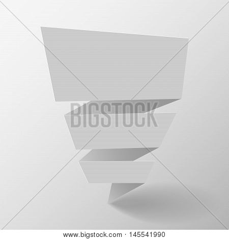 Origami banner. Origami speech bubble. Vector illustration