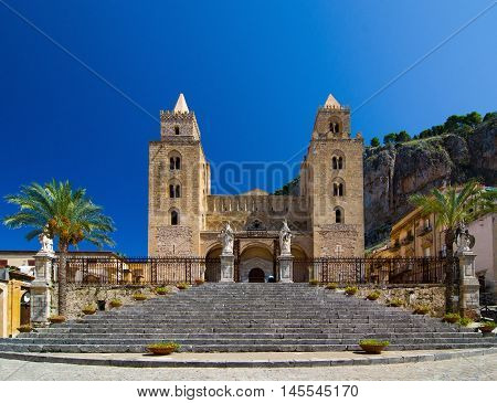 The Cathedral-Basilica of Cefalu or Duomo di Cefalu is a Roman Catholic church in Cefalu, Sicily, Italy. The cathedral, dating from 1131, built in the Norman style.