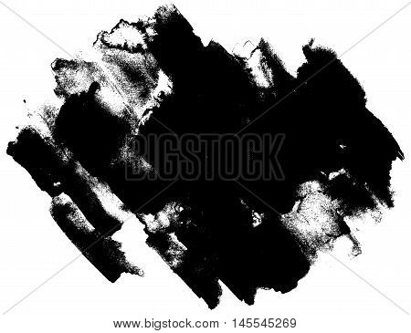 Abstract watercolor traced vector texture. Art design. Backdrop of paint texture. Splatter paint splash background textures. Made by gouache and watercolor paint. Black and white brush strokes.