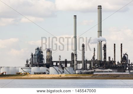 Antwerp Port Refinery Towers