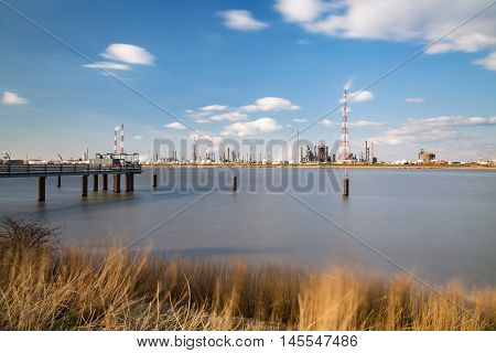 Antwerp Port Refinery And Jetty Long Exposure